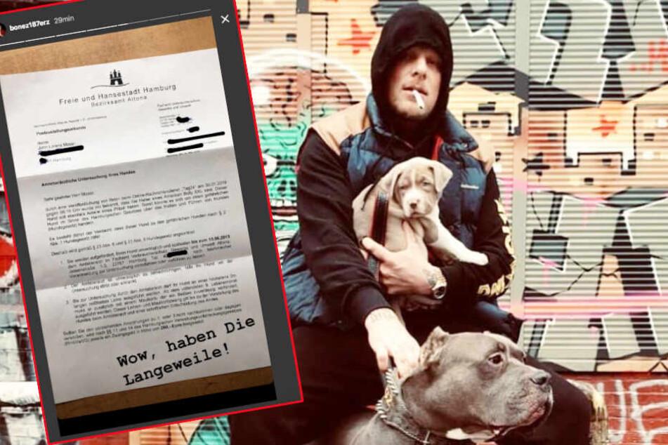187 Strassenbande: Bonez MC bekommt Brief vom Amt und kann darüber nur lachen