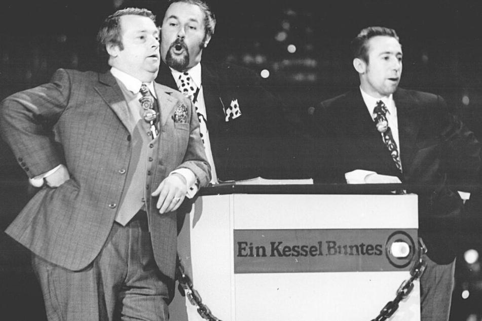 """""""Die drei Dialektiker"""" vom """"Kessel Buntes"""": Manfred Uhlig (v.l.), Horst Köbbert und Lutz Stückrath."""