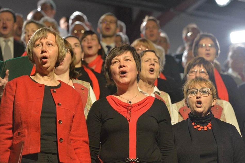 """""""Chemnitz singt!"""" - Mit einem großen Chorkonzert eröffnete Chemnitz Sonntag die Feiern zum 875. Stadtjubiläum."""