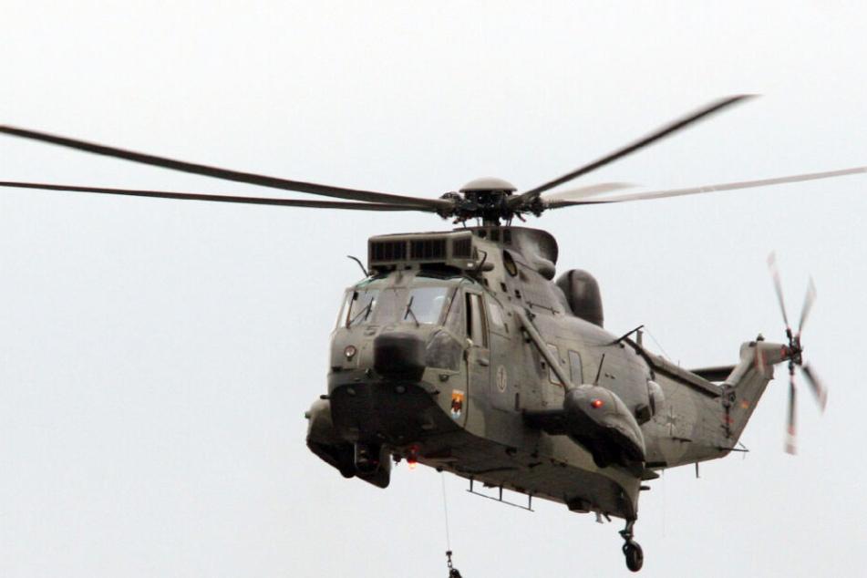 Auch ein SAR-Hubschrauber der Bundeswehr suchte nach den Vermissten. (Archivbild)