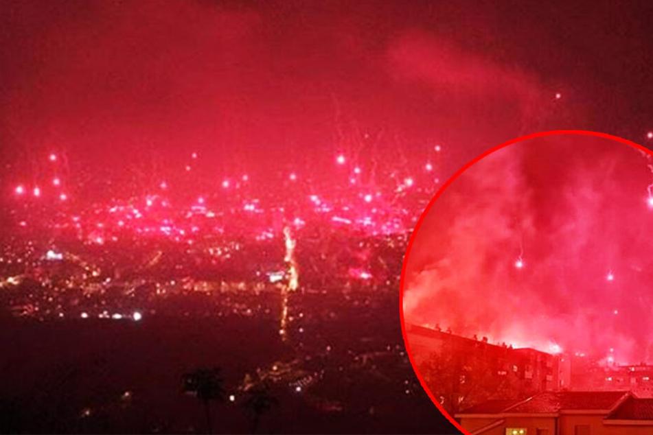 Ultras feiern Geburtstag und in der ganzen Stadt brennt es lichterloh