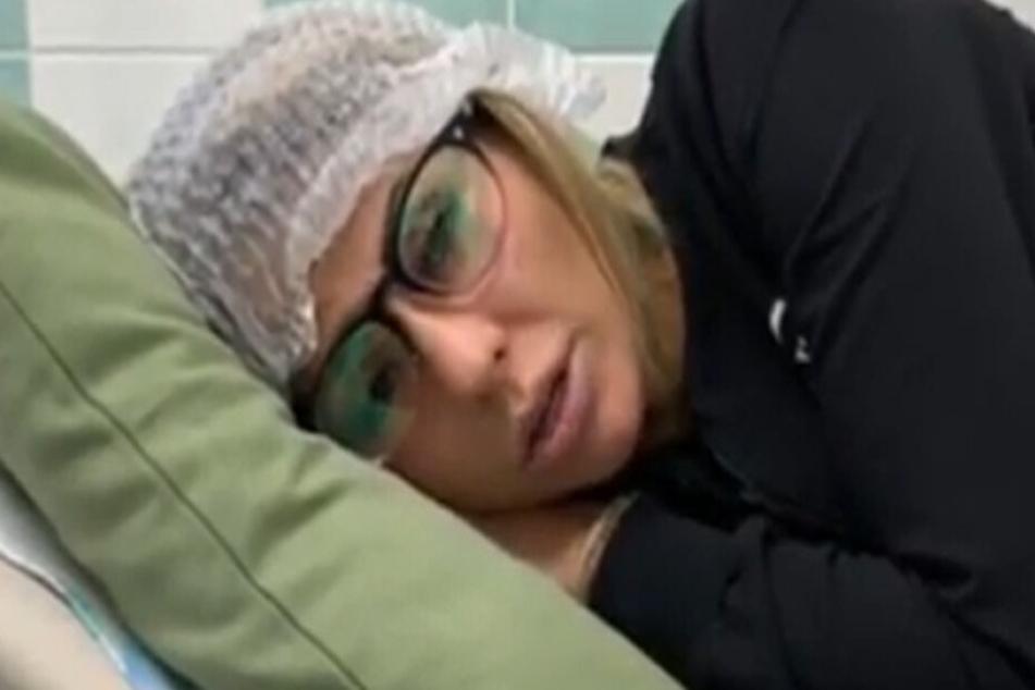 Die 34-Jährige musste ins Krankenhaus.