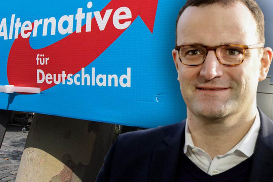 """CDU-Minister Jens Spahn (37) will die """"AfD überflüssig machen"""". (Bildmontage)"""