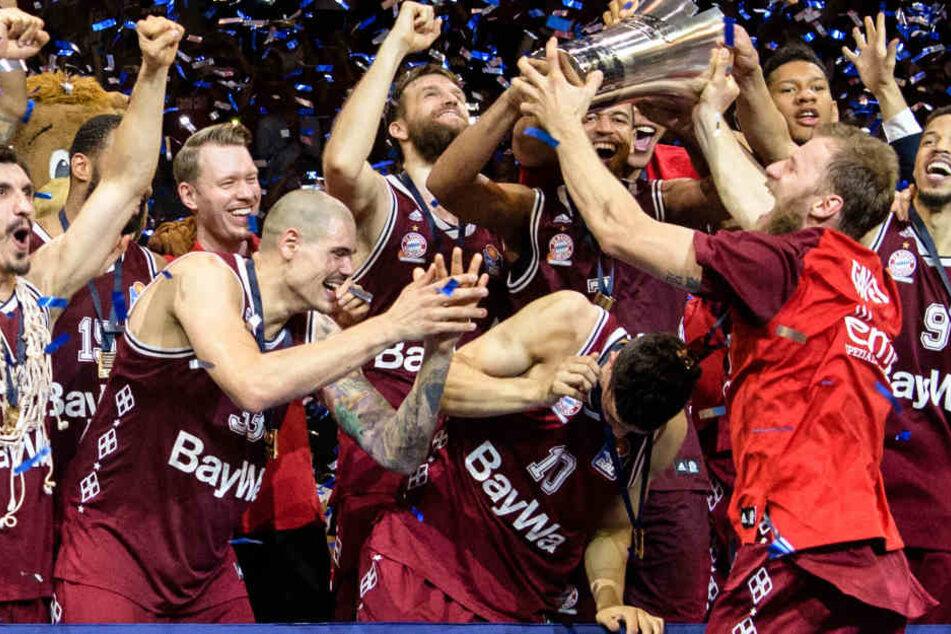 Meister! Beim FC Bayern wird auch äußerst erfolgreich Basketball gespielt.