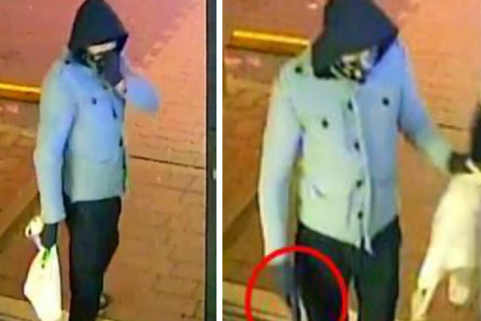 Mit diesen Bildern sucht die Polizei nach dem Mann. (Bildmontag