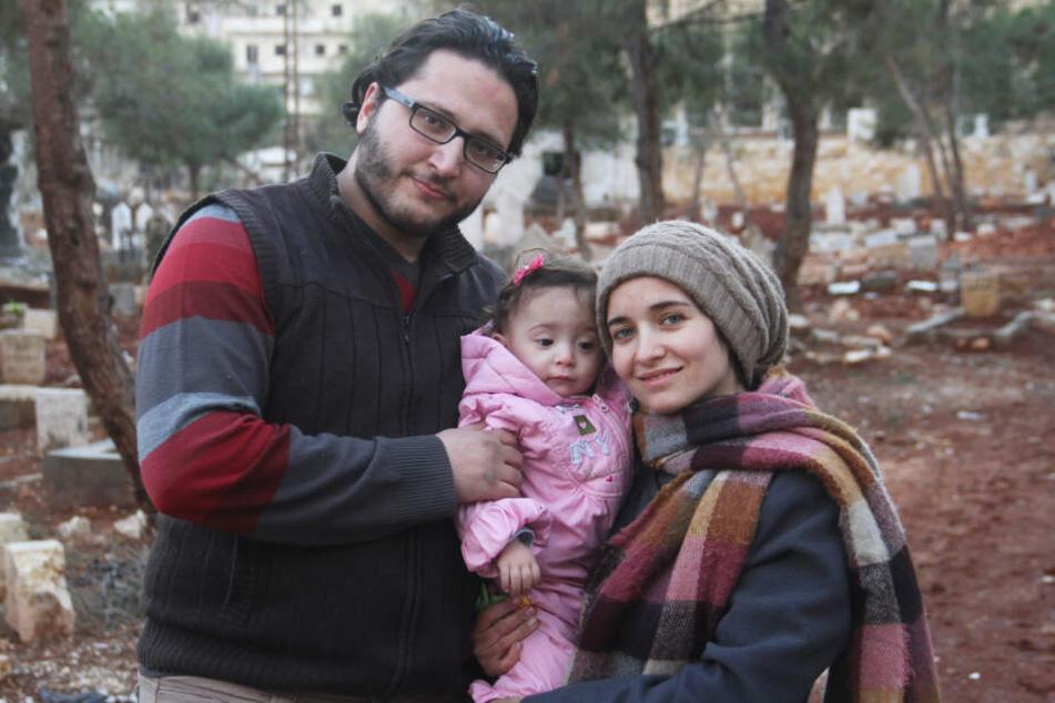 Die Familie von links nach rechts: Hamza, Sama und Waad Al-Kateab.