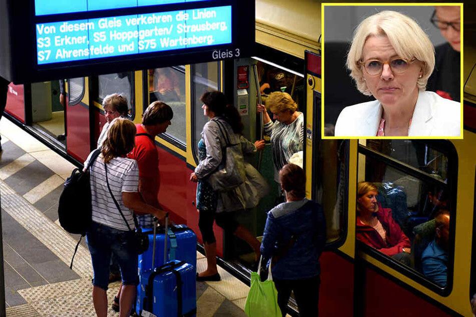 Verkehrssenatorin Regine Günther ist unzufrieden mit der Berliner S-Bahn.