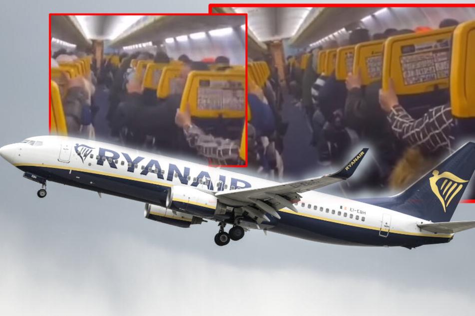 Schreie und Gebete während Turbulenzen: Passagiere mit Panik im Flugzeug!