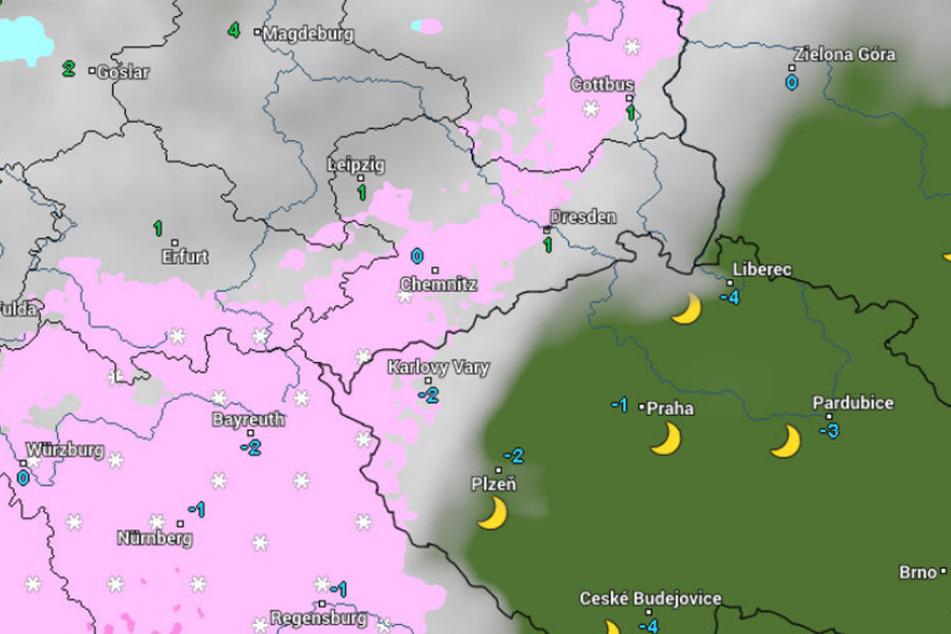 In Sachsen wird kräftiger Schneefall erwartet.