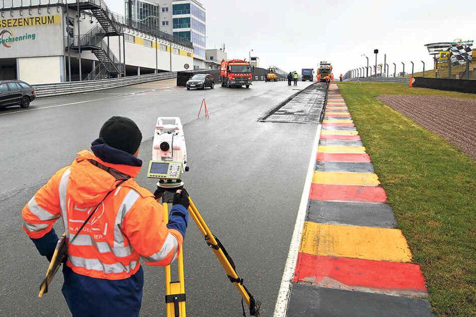Startschuss für die Bauarbeiten auf dem Sachsenring. 3671 Meter Strecke müssen  erneuert werden.