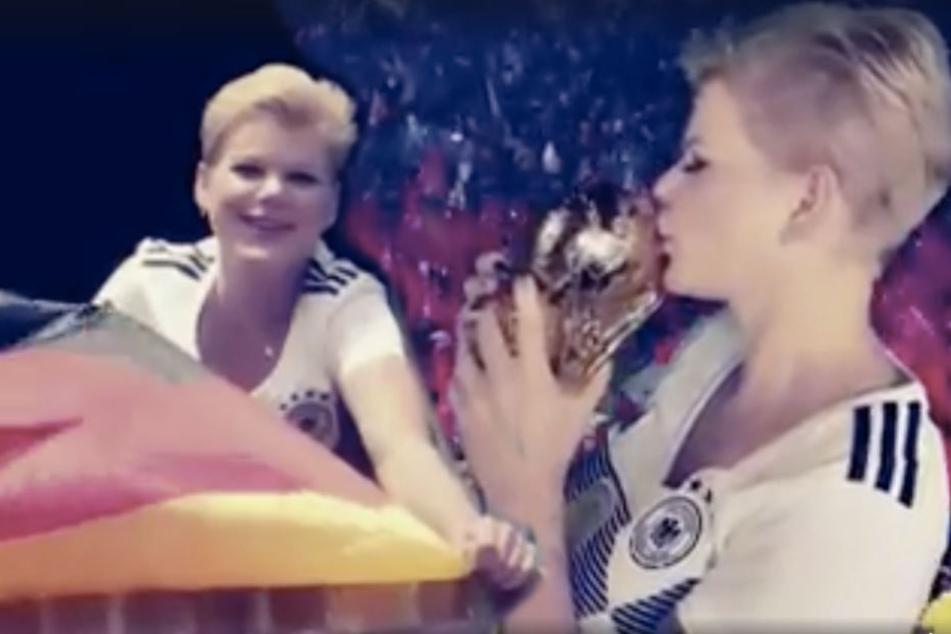 """""""Weltmeister werden wir"""", weiß Melanie Müller in ihrem neuen Song."""