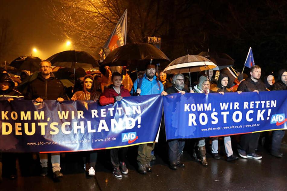 Die AfD rückte gegen die angebliche Islamisierung in Rostock-Evershagen vor.