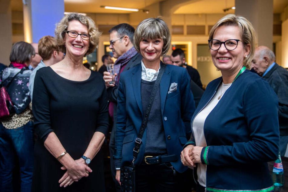 Museumsdirektorin Sabine Wolfram (59, l.) nahm Barbara Klepsch (54, CDU, r.) in Empfang. Auch Oberbürgermeisterin Barbara Ludwig (57, SPD) kam zu der Veranstaltung.