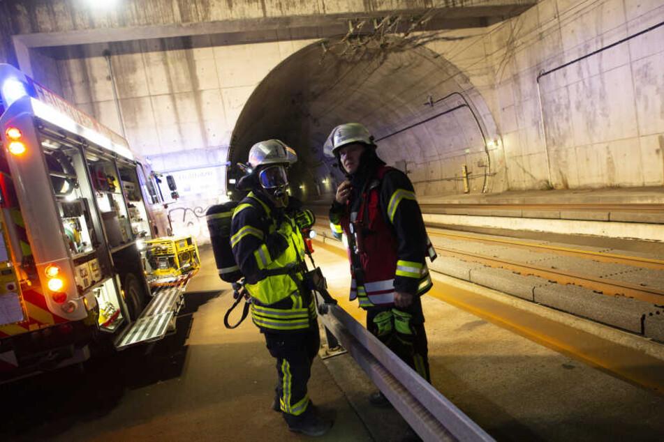 Für die Übung wurde ein Tunnel-Teilstück zwischen Frankfurt und Köln extra gesperrt.