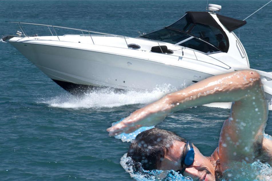 Dreister Sportboot-Fahrer flüchtet nach Zusammenstoß mit Schwimmer