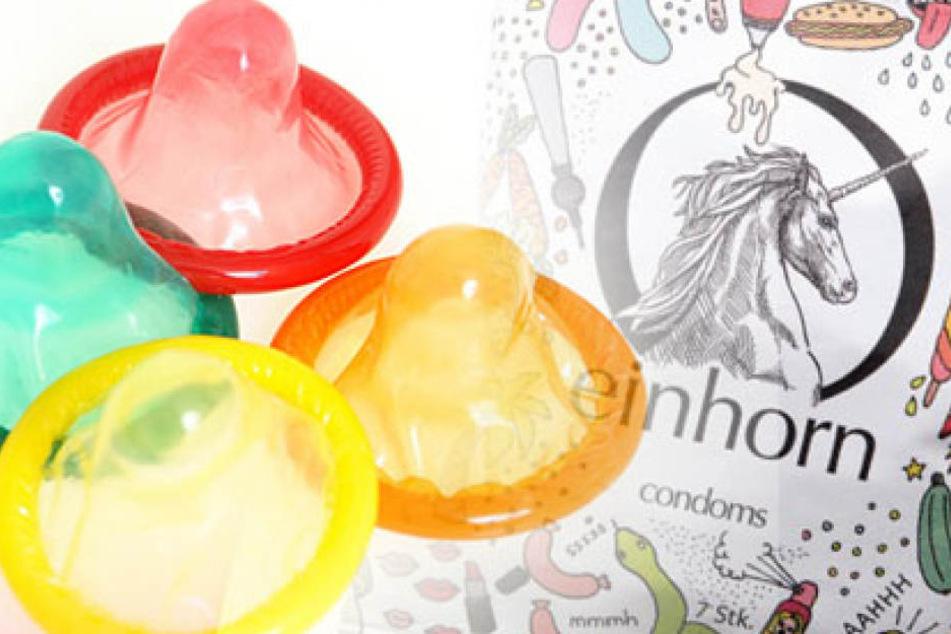"""Die Drogeriemarkt-Kette """"dm"""" will mit den Einhorn-Kondomen einen neuen Trend lostreten."""