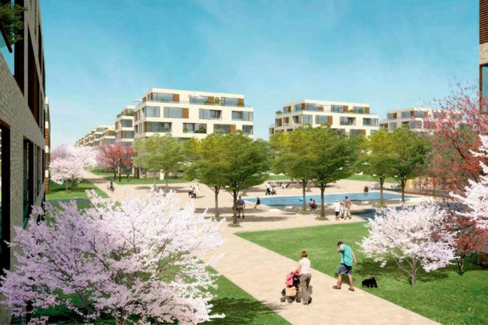 So könnten die Häuser für 600 Wohnungen am Jägerpark mal aussehen.