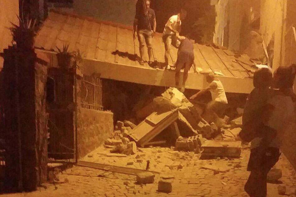 """""""Es ist das Schlimmste, was mir je passiert ist"""", erzählt eine Bewohnerin. Die Stadt gleicht einem Trümmerfeld."""
