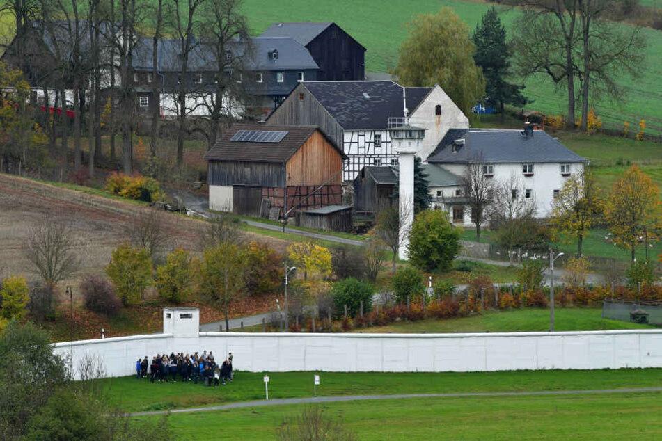 Das Dorf Mödlareuth (Thüringen) war früher durch die Grenze geteilt.