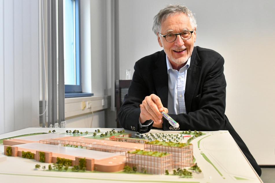 Etwa 300 Millionen Euro will Elbepark-Besitzer Kurt Krieger (73) in einen komplett neuen Kaufpark Dresden investieren.