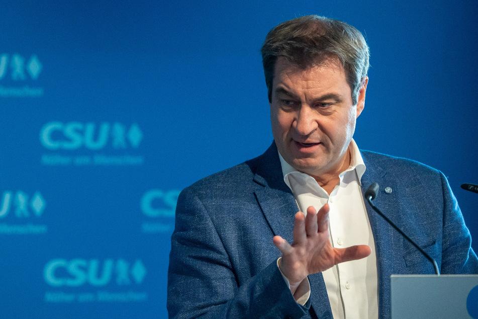 """Bayerns Ministerpräsident Markus Söder (54, CSU) fordert eine """"konsequente Umsetzung der Notbremse""""."""
