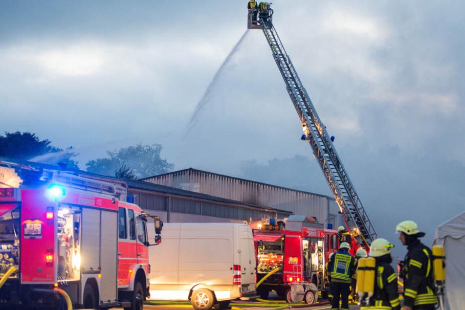 Knapp 200 Einsatzkräfte versuchten, die Flammen zu bändigen.