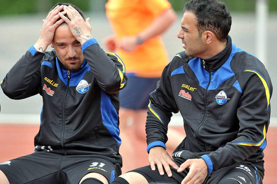 Deniz Naki (28, li.) spielte eine Saison lang für den SC Paderborn. Hier mit Mahir Saglik (34).