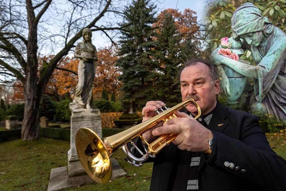 """Trauermusiker brauchen ein besonderes Gespür: Ein """"letztes Lied"""" sagt mehr als viele Worte"""