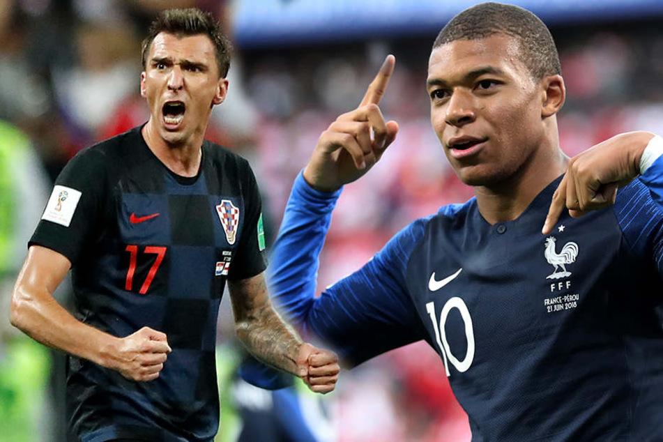 Frankreich Gegen Kroatien