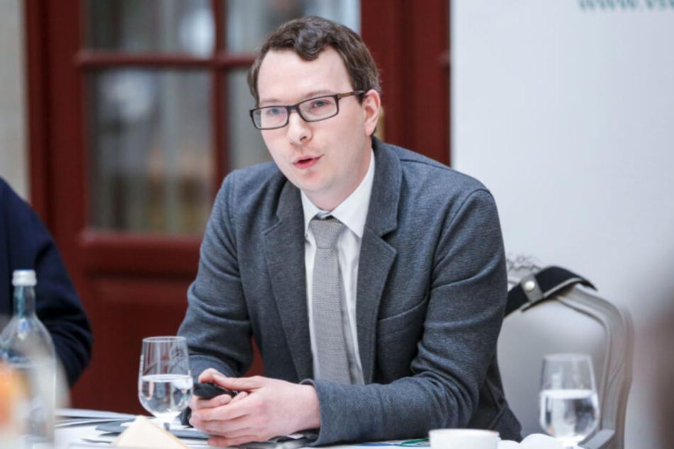 Sven Winkler (33) vom Verband Sächsischer Wohnungsgenossenschaften.