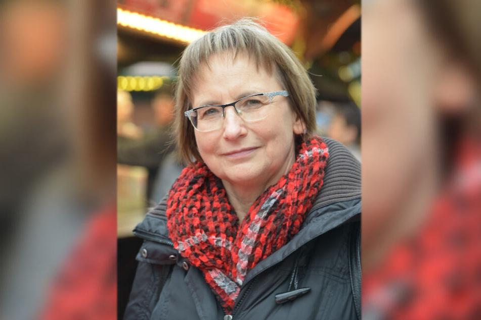 Kerstin Rucks (58) findet das Glühbier besonders gut.