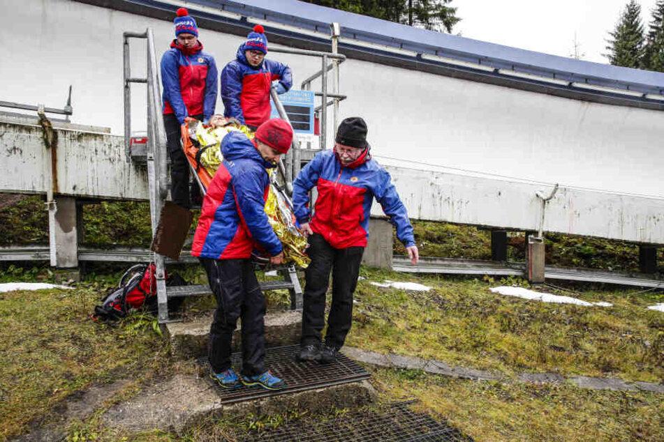 Auch zur Bob Skeleton werden die Bergwächter im Eiskanal im Einsatz sein.