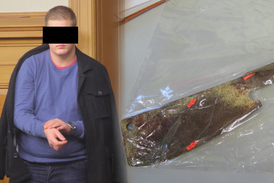 Bluttat im Drogenrausch? Schädel mit Fleischerbeil gespaltet!