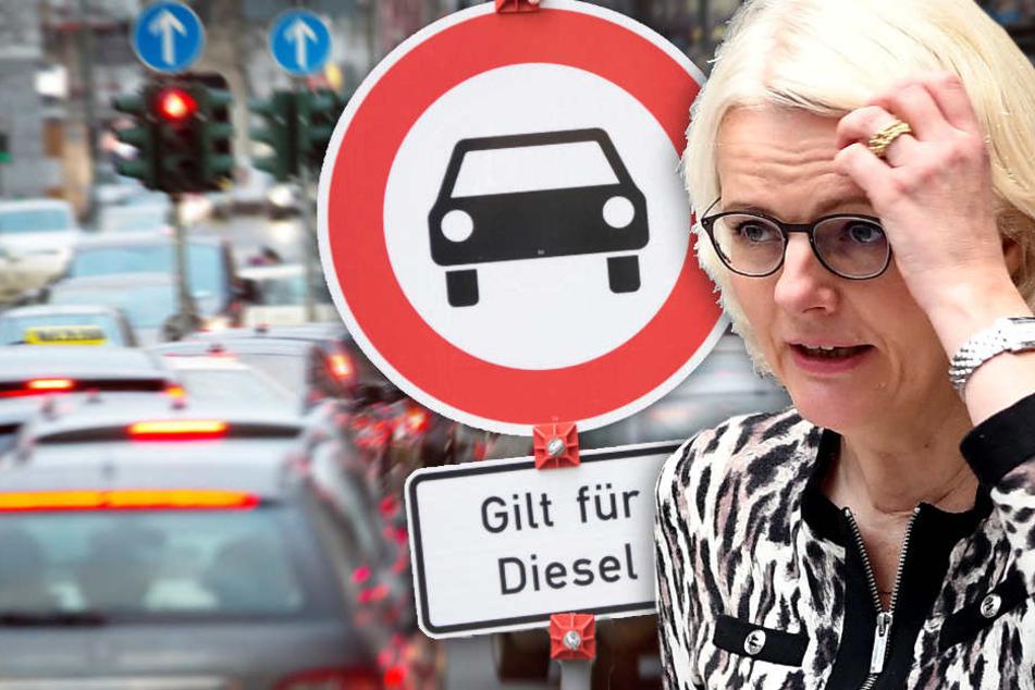 Die Berliner Senat prüft demnach zurzeit ein entsprechendes Fahrverbot in Berlin für zwölf Straßenabschnitte. (Bildmontage)