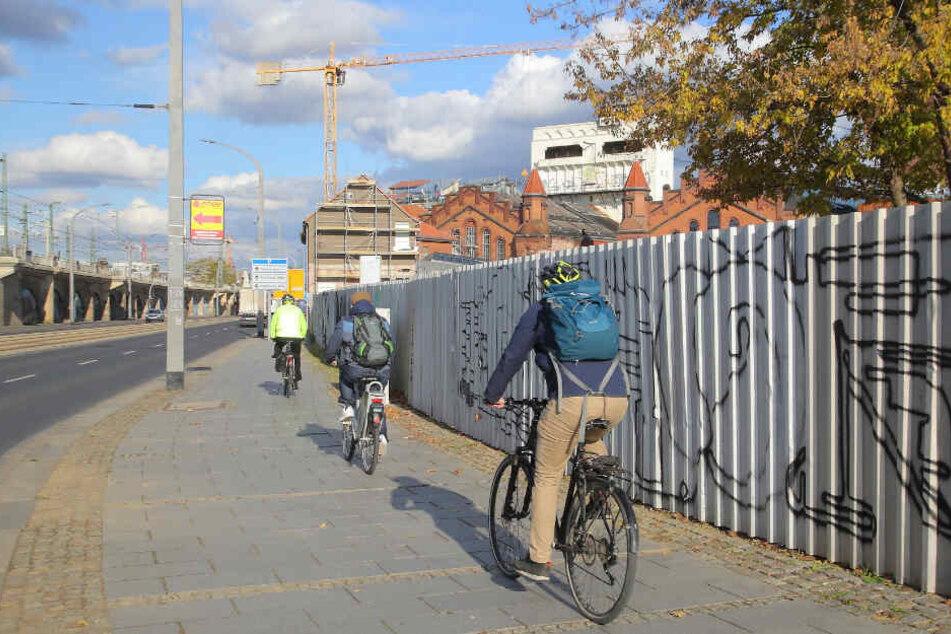 Zwickauer und Könneritzstraße: Hier tut sich was für Radfahrer