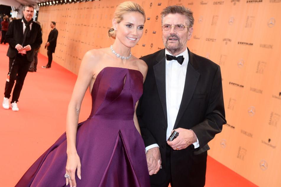 Heidi Klum mit Vater Günther Klum bei einer Veranstaltung im Jahr 2015.