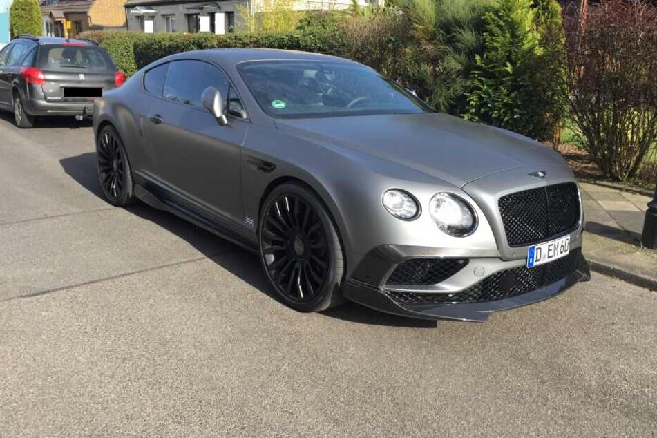 Der gestohlene Bentley wird gesucht.
