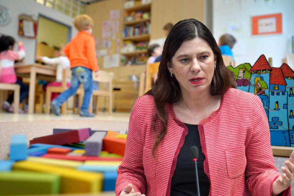 Als Bildungssenatorin kümmert sich Sandra Scheeres (48, SPD) auch um die Berliner Kitas. (Bildmontage)