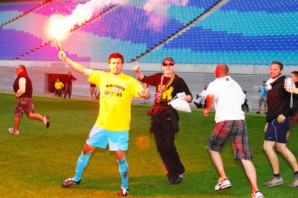 Die verrückte Pyroaktion nach dem Sachsenpokalsieg 2009 brachte Benny Kirsten eine Menge Ärger.