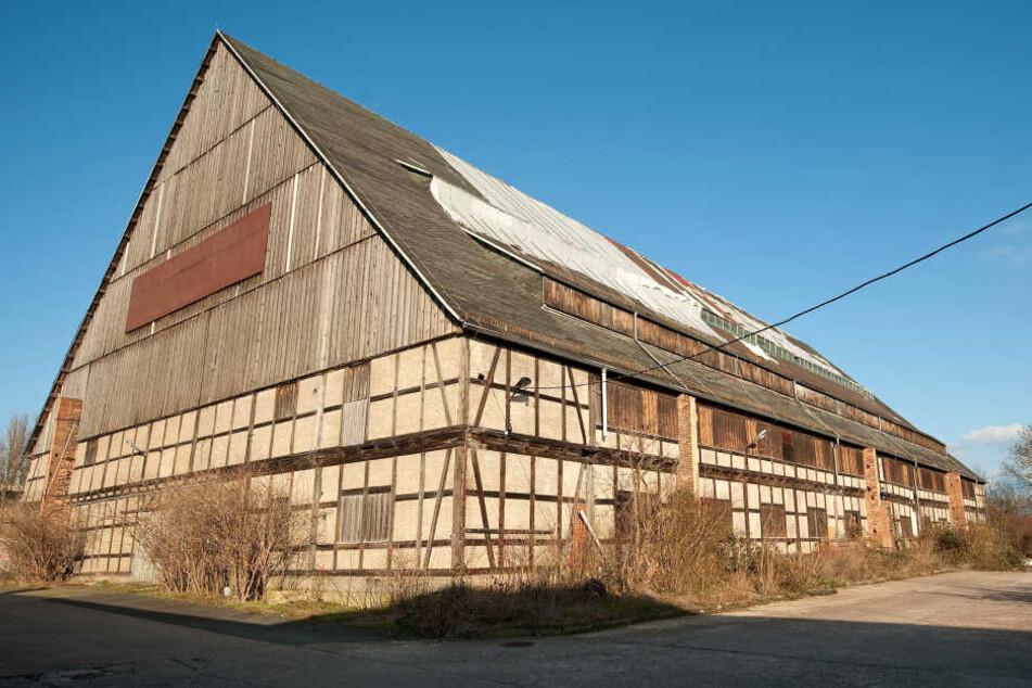 Die Aufnahme vom 20.02.2014 zeigt die historische Viehauktionshalle in Weimar.
