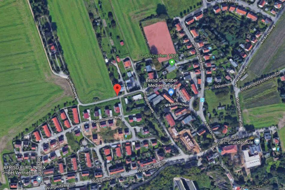 Der sexuelle Übergriff ereignete sich auf der Friedhofsweg in Dresden.