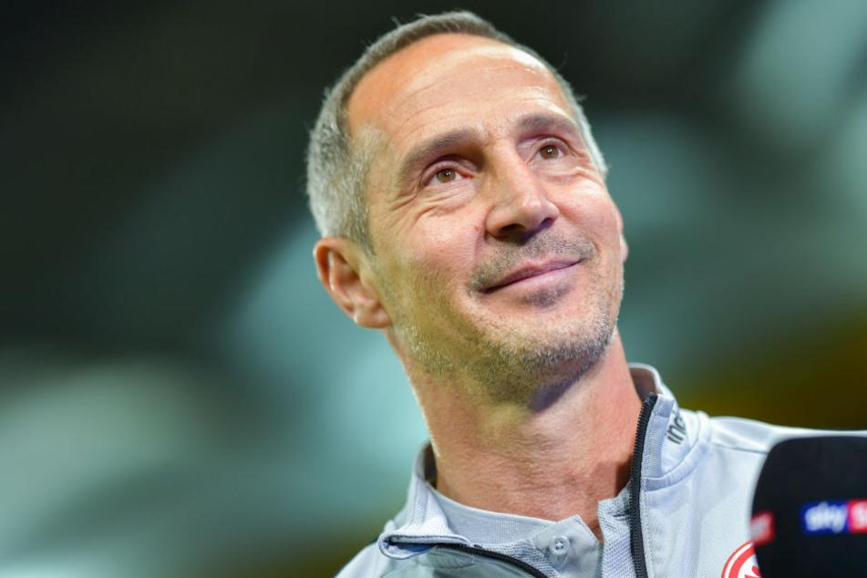 Adi Hütter will gegen Marseille den fünften Sieg in der Europa League eintüten. (Symbolbild)