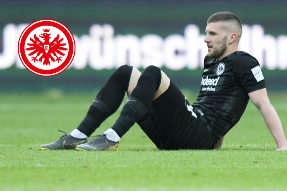 Eintracht-Stürmer Rebic bricht Training wegen Rücken-Problemen ab