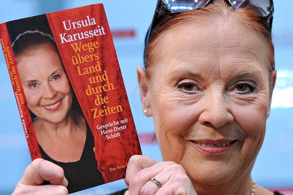 """Ursula Karusseit war 2010 auf der Leipziger Buchmesse mit ihrem Buch """"Wege übers Land und durch die Zeiten""""."""