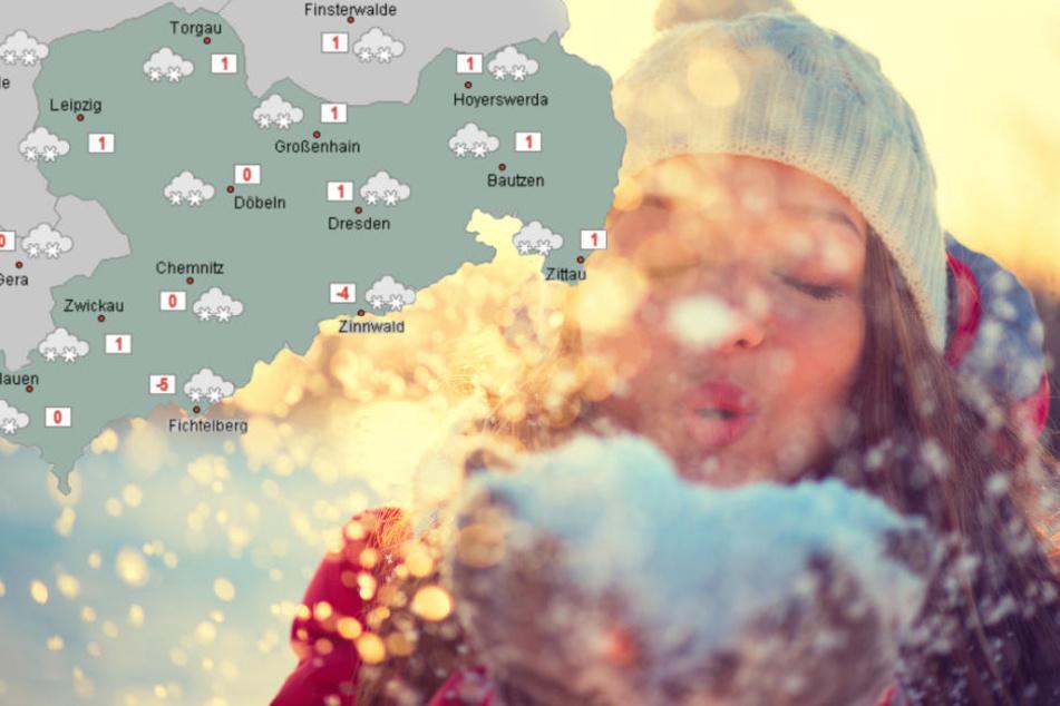 Der Winter kommt! Spätestens am Mittwoch soll es in den meisten Regionen Sachsens schneien.