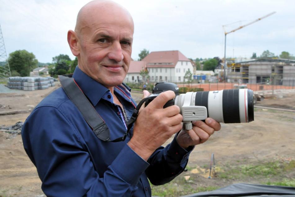 Lutz Raschke (63) ist Kulturmanager in Frankenberg und sucht Moderatoren für die Landesgartenschau 2019.