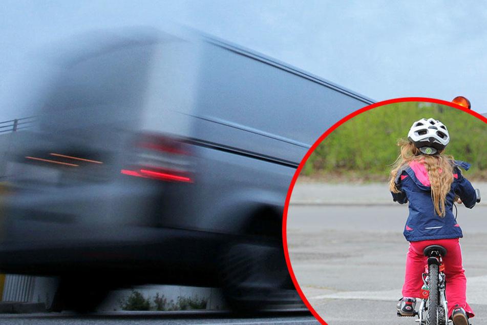 Der Transporter-Fahrer hatte die Kleine einfach übersehen. Sie brach sich bei dem Unfall den Arm. (Symbolbild)