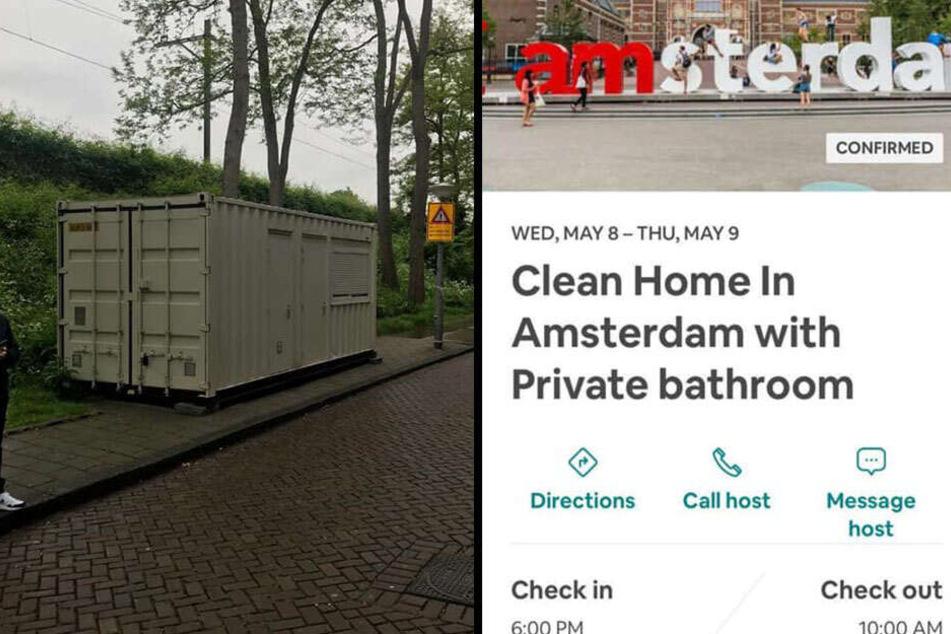 Statt einer sauberen Unterkunft fand der Brite einen schäbigen Container vor.