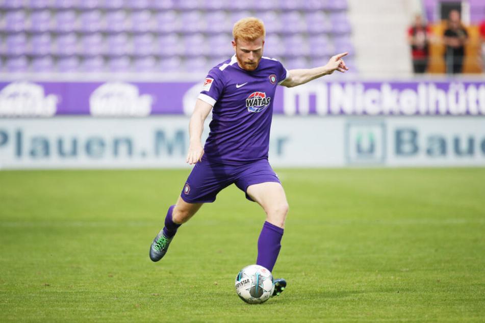Aue-Abwehrspieler Fabian Kalig wird Anfang Januar erneut operiert (Archivbild).