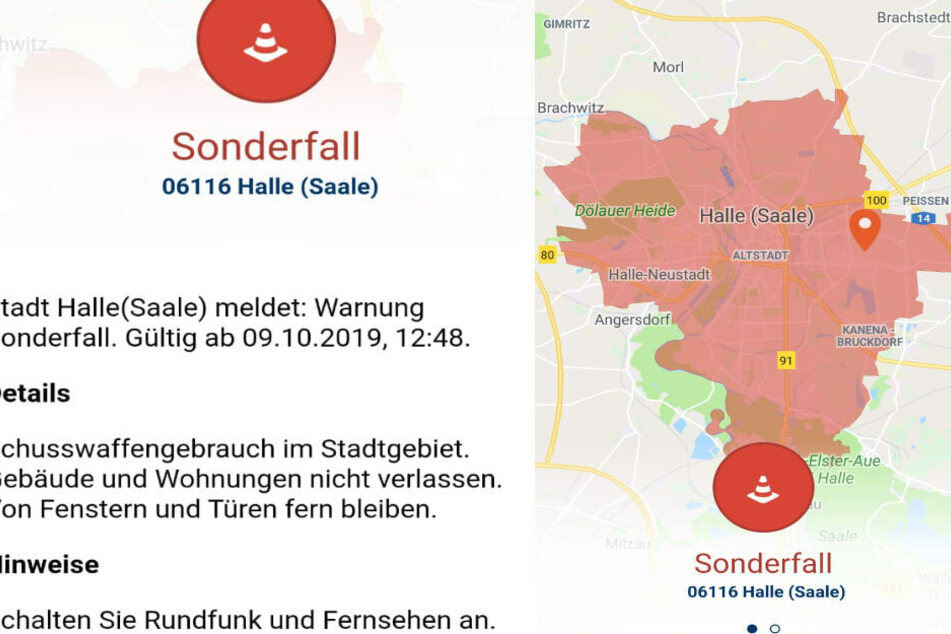 Die Warn- und Informations-App Katwarn warnt die Bürger von Halle.